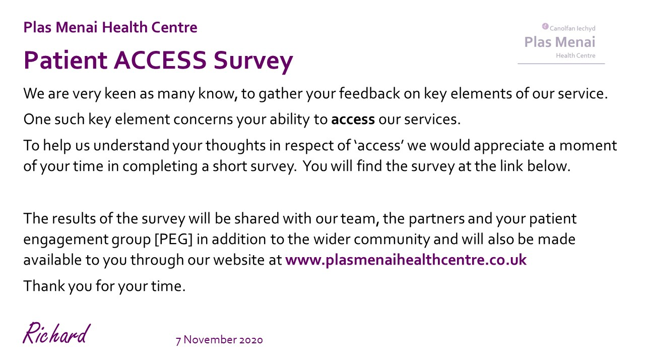 PMHC - ACCESS Survey